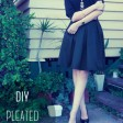 DIY Box-Pleated Skirt