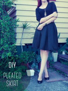 DIY Box Pleated Skirt | Carbon Chic